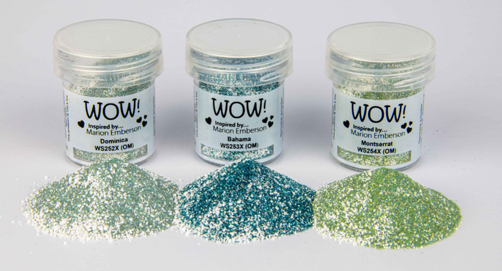 WOW Embossing Powder Trio Caribbean Charm