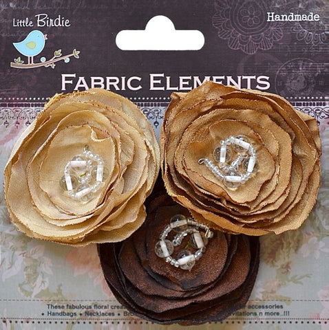 Fabric Beaded Blooms - See more ooptions - sugar and spice crafts - 2