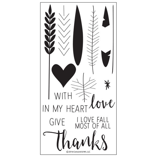Concord and 9th - Give Thanks Stamp set