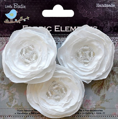 Fabric Beaded Blooms - See more ooptions - sugar and spice crafts - 4