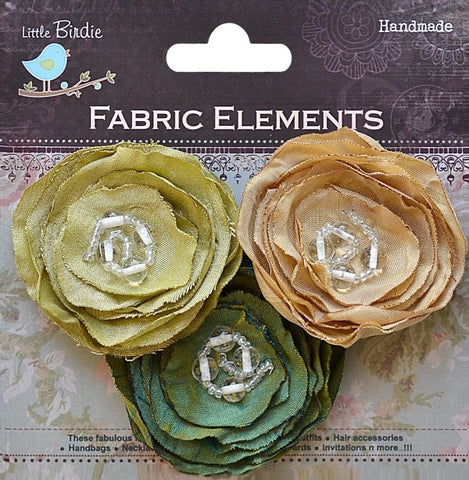 Fabric Beaded Blooms - See more ooptions - sugar and spice crafts - 3