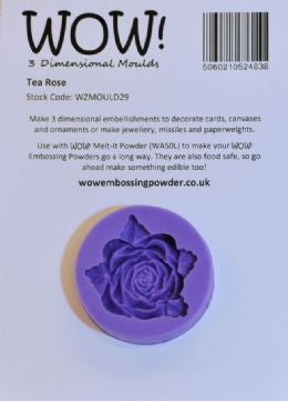 Silicone Mould Tea Rose - sugar and spice crafts
