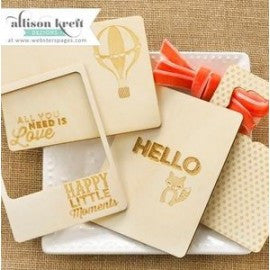 Webster's Pages - Alison Kreft - Hello World Wood Veneers - sugar and spice crafts
