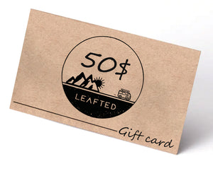 Leafted gift card