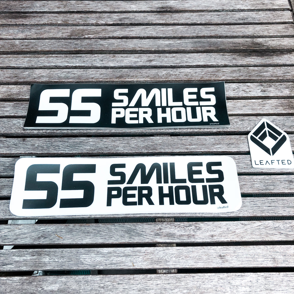 Bumper sticker -55 smiles