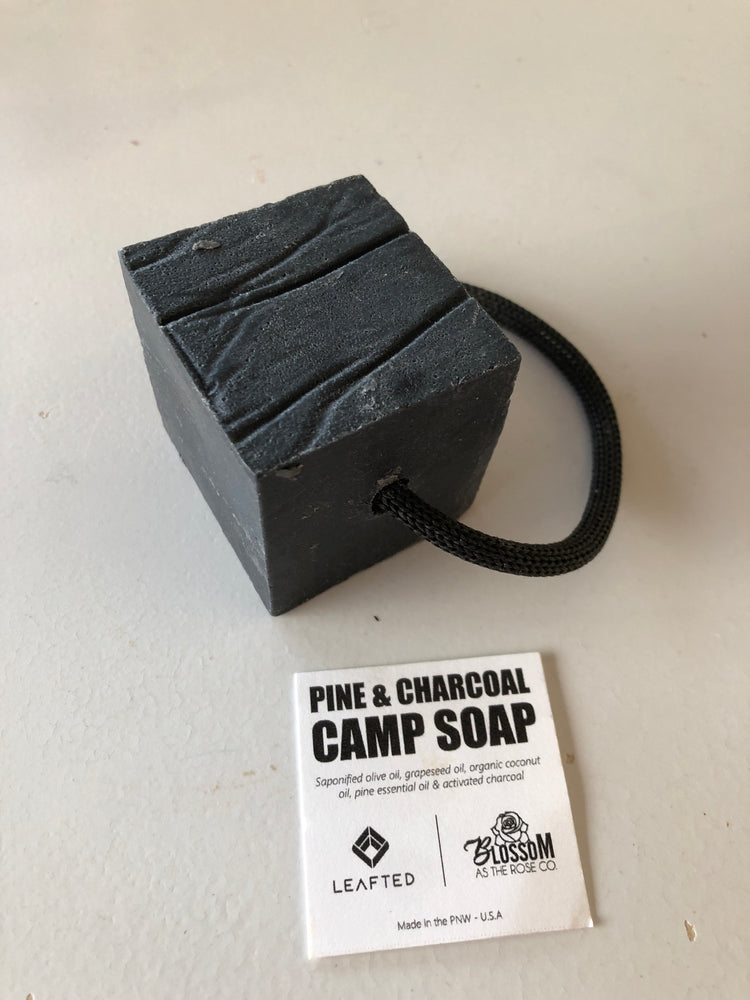 Biodegradable camp soap on a rope