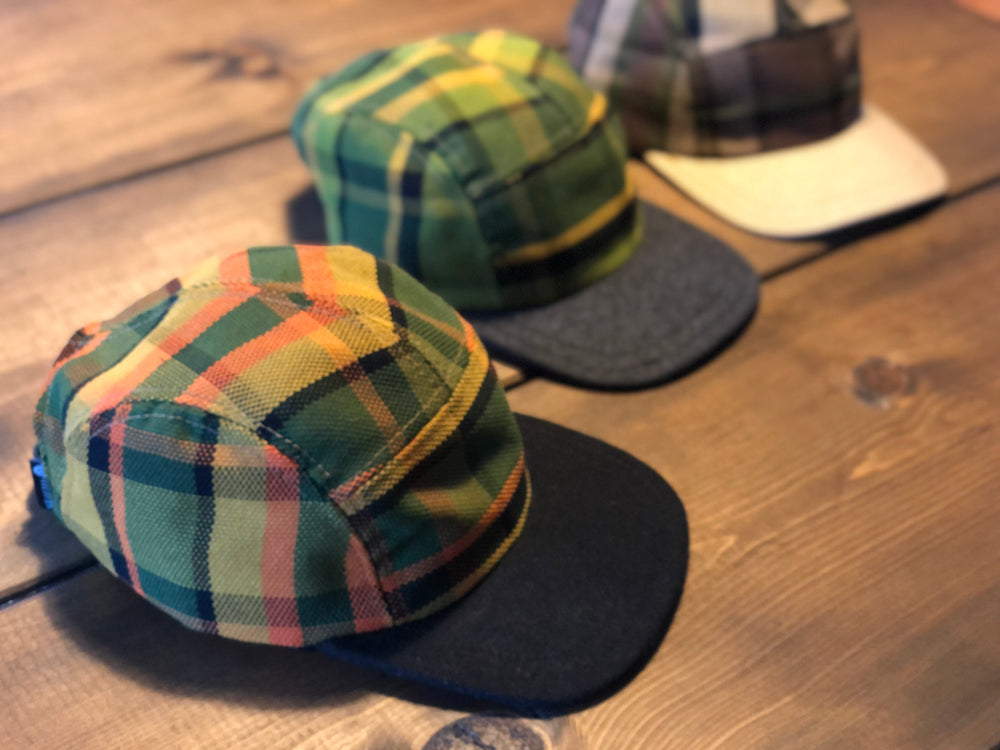 Westy Plaid Hat in orange