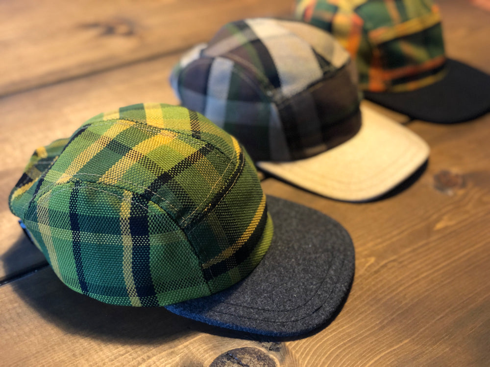 Westy Plaid Hat in green