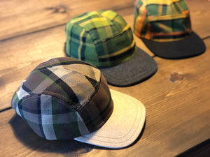 Westy Plaid Hat in brown