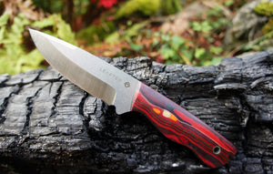 Falcon field Knife -Elements series - FIRE - edition of 1