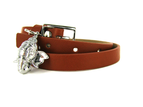 Blessed by Karma Leather Bracelet - Brown