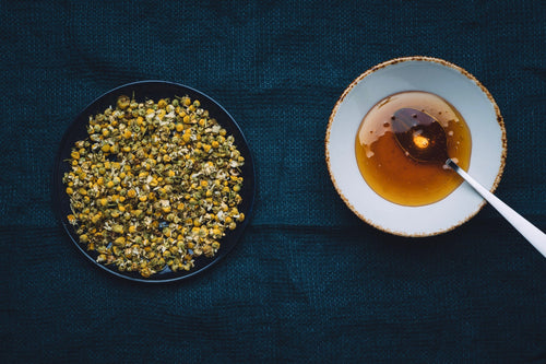 Organic chamomile. Natural herbal infusion