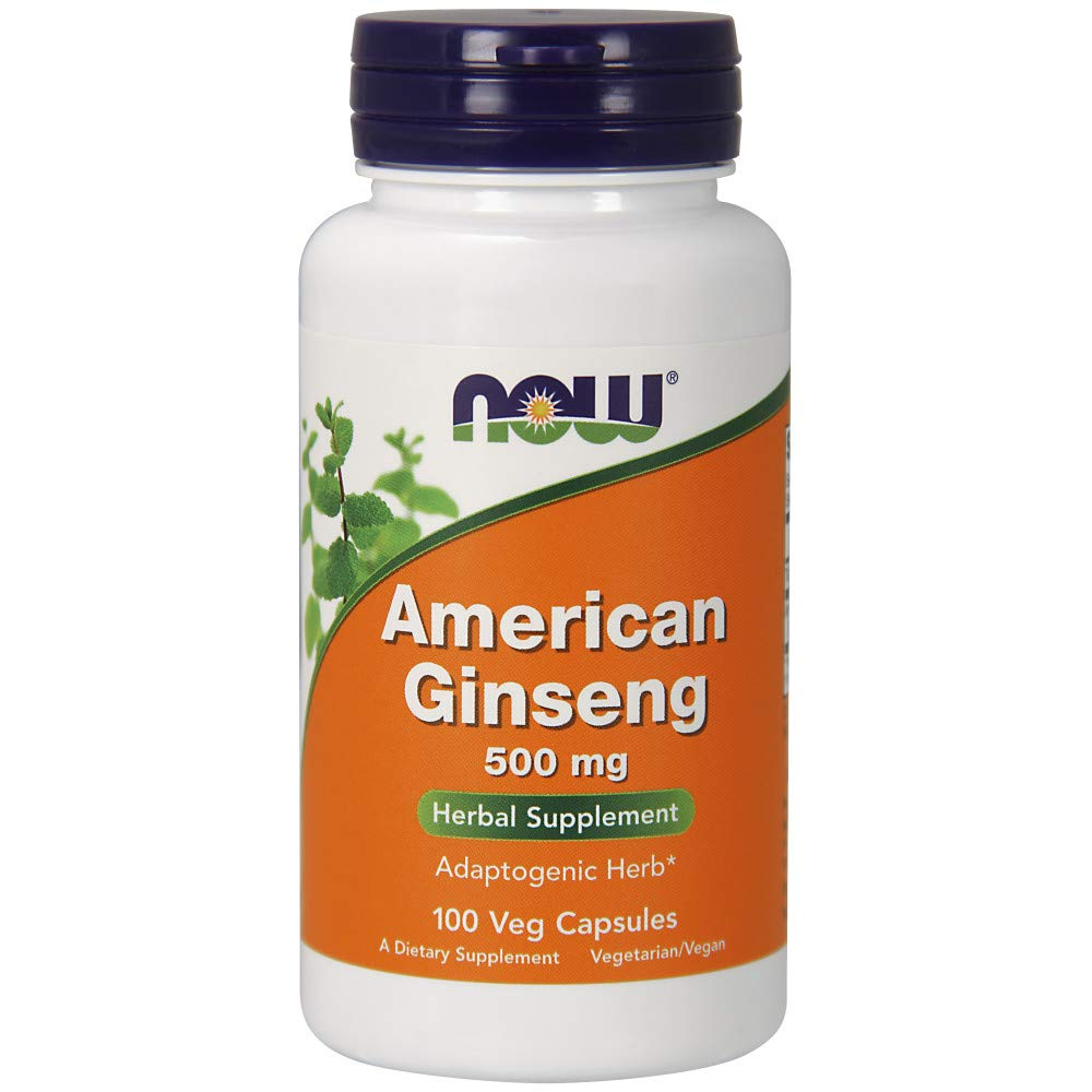 NOW Supplements, American Ginseng (Panax quinquefolius) 500 mg, 100 Veg Capsules