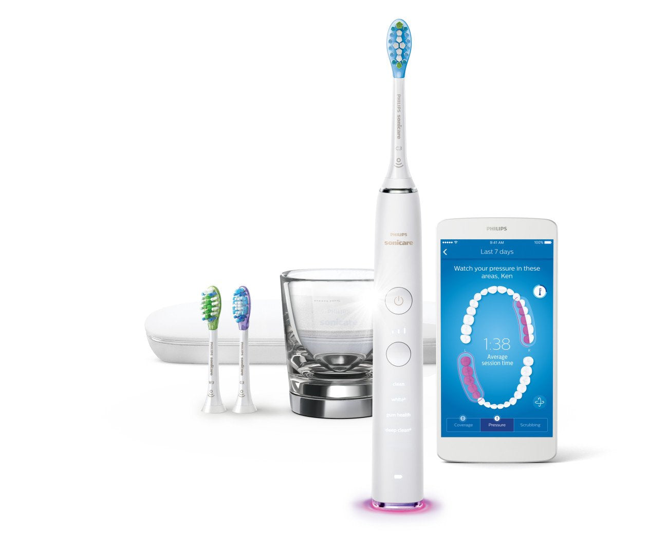Philips Sonicare DiamondClean Smart Electric, Rechargeable toothbrush for Complete Oral Care