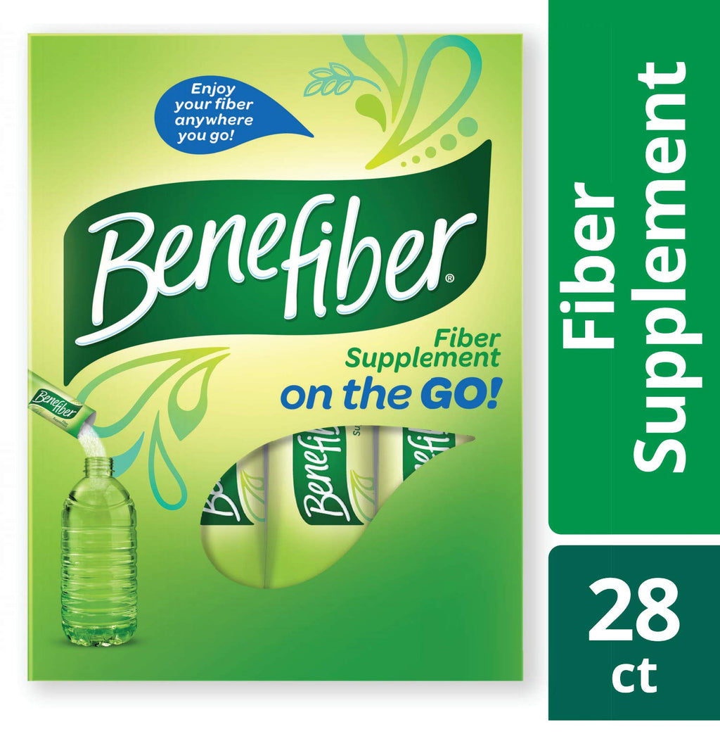 Benefiber Fiber Supplement Powder Stick Packs for Digestive Health