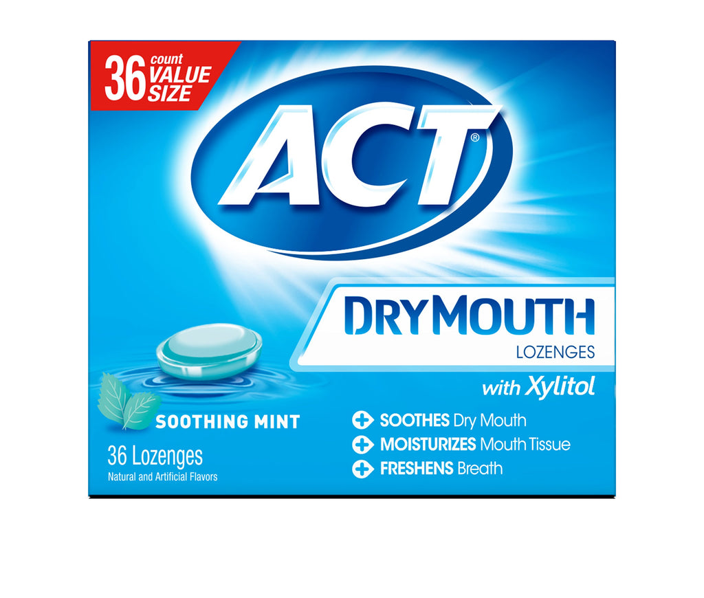 ACT Dry Mouth Lozenges Soothing Mint