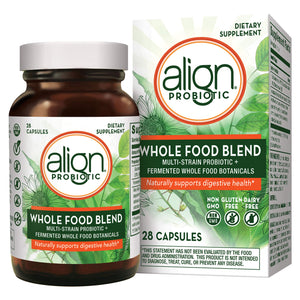 Align Whole Food Blend Multi-Strain Probiotic Supplement, Made with Fermented Wholefood Botanicals, One a Day, Non-GMO, Vegan, Gluten Free, 28 Capsules
