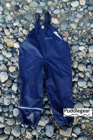 Puddlegear Bib Rainpant in Navy Blue