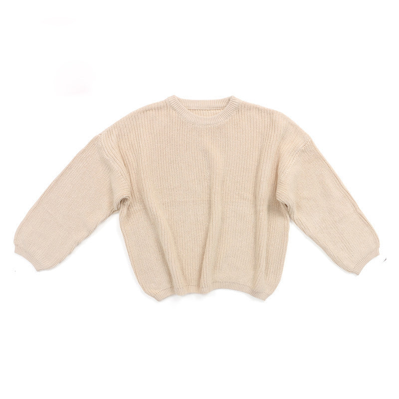 Chunky knit sweater in beige