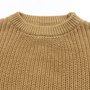 Chunky knit sweater in caramel