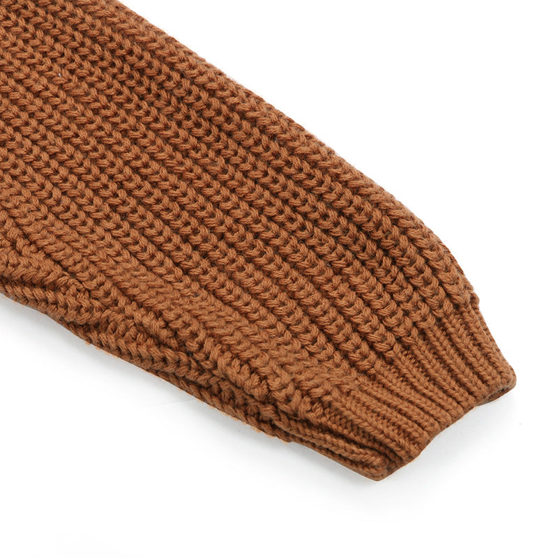 Chunky knit sweater in rust