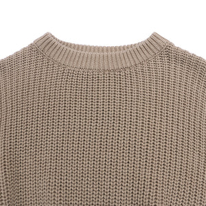 Chunky knit sweater in khaki