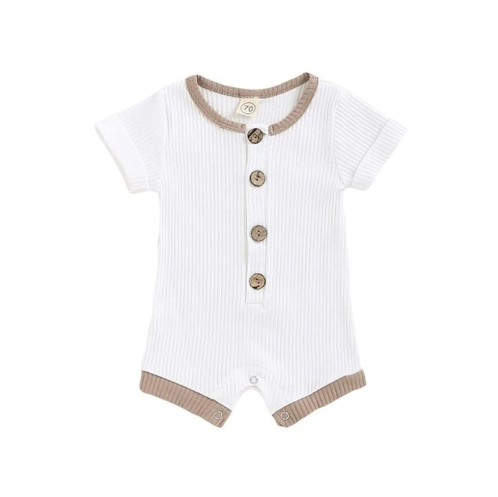 Finn romper in white