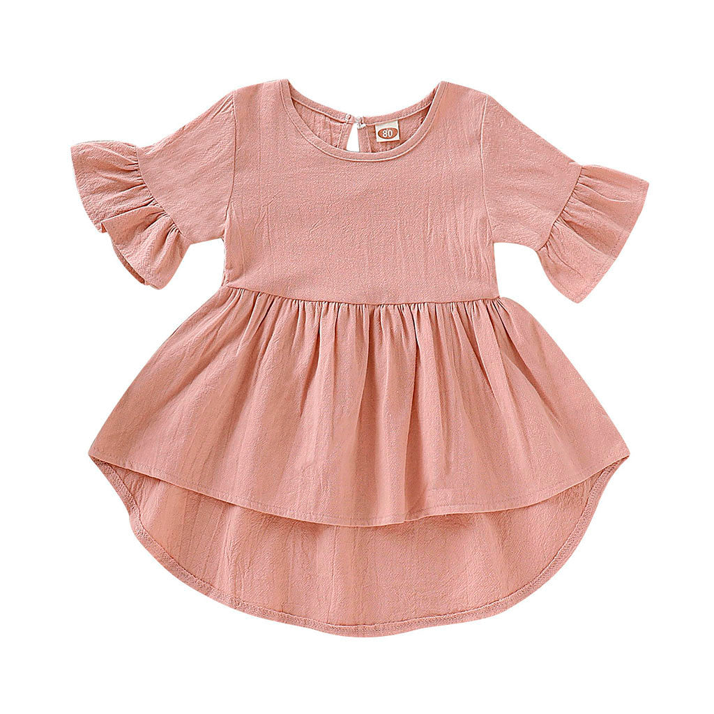 Dede high low dress in pink
