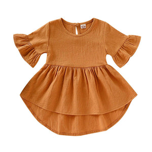 Dede high low dress in orange sunset