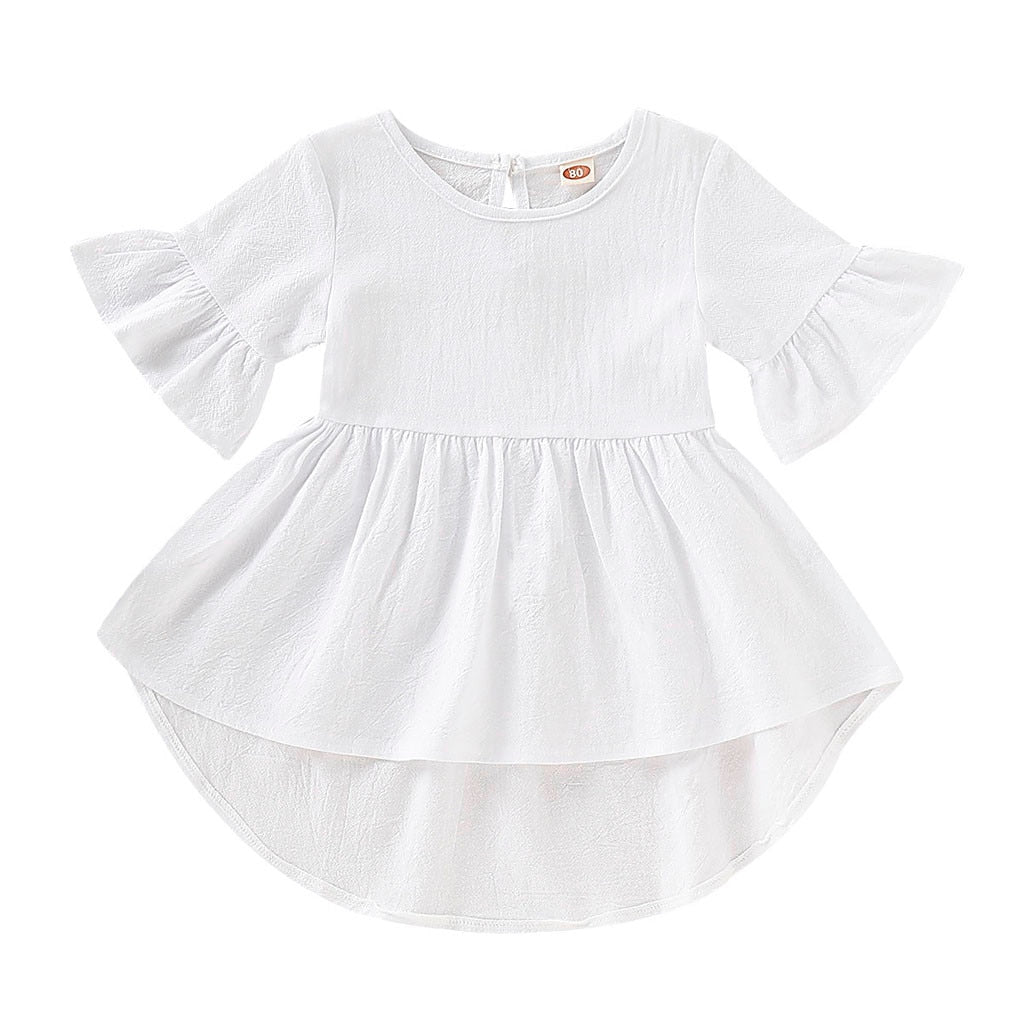 Dede high low dress in white