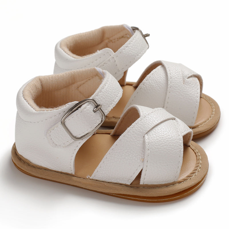 Remi criss cross sandals in white