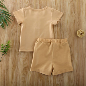 Henley set in muted mustard