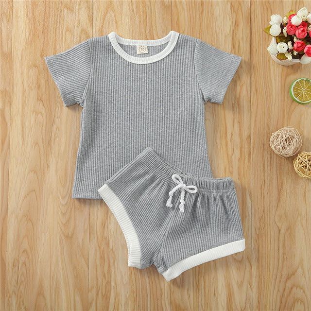 Tracksuit summer set in grey