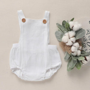 Bodysuit romper in white