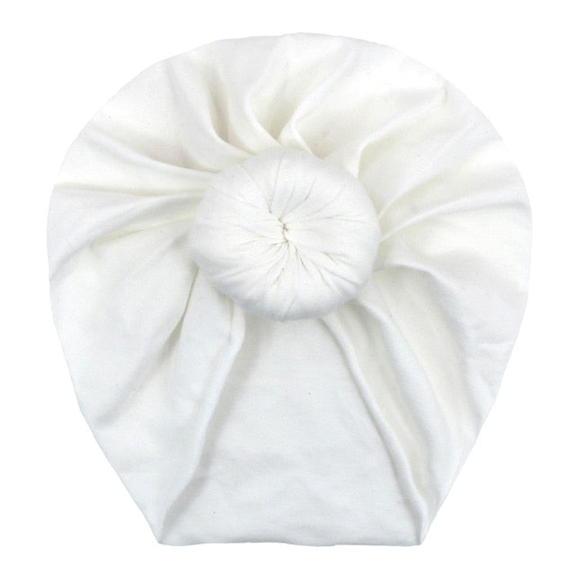 Top Knot Turban in white