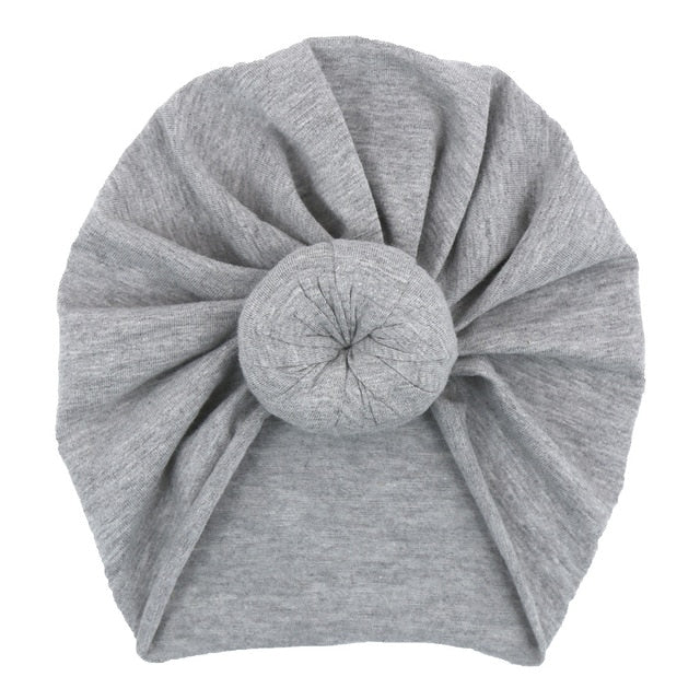 Top Knot Turban in grey