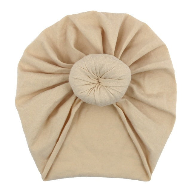 Top Knot Turban in light khaki