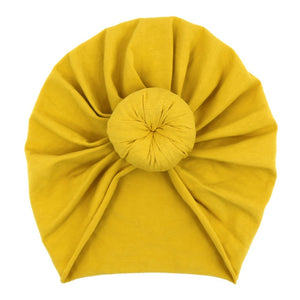 Top Knot Turban in mustard