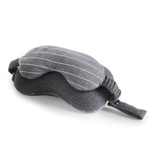 2 in 1 Grey Travel Neck Pillow