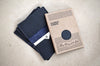 the simple wallet / navy blue / packaging
