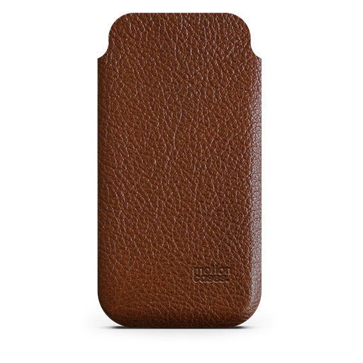 Leather Slender Case for iPhone - brown