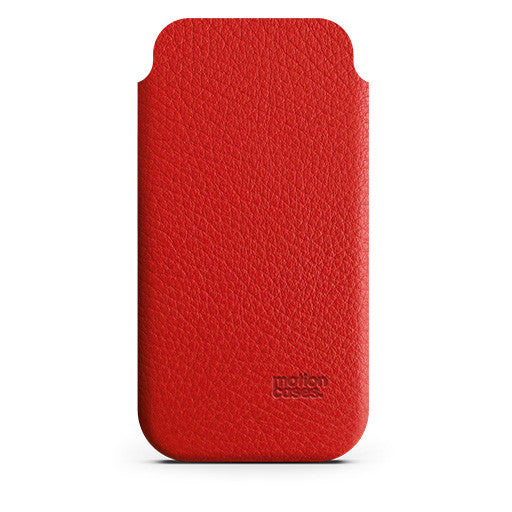 slender case / leather case for iPhone / red