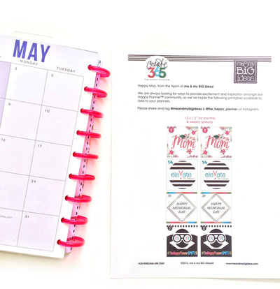 FREE Happy Planner™ PRINTABLES for May!