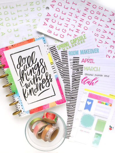 Mini Happy Planner® Notebook | Organized & Titled by Month & Project
