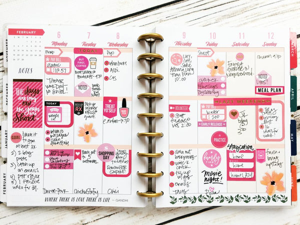 Happy Planner with Stickers