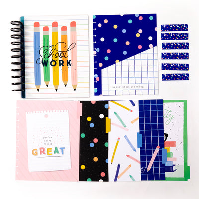 BIG Kids School Organizer Box Kit - Happy Pencils