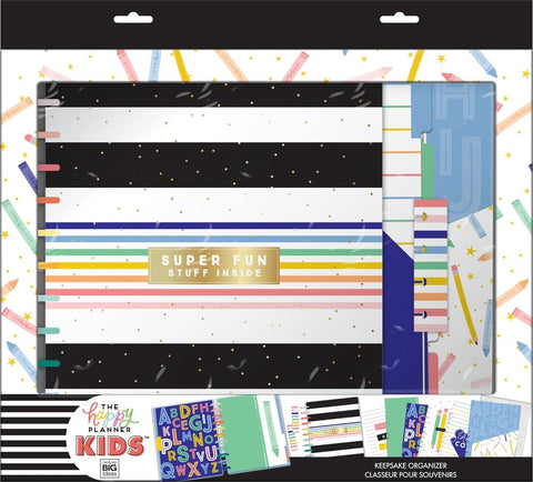 BIG Kids School Organizer Box Kit - Happy Stripes