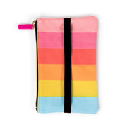 Rainbow Stripe Classic Banded Pouch