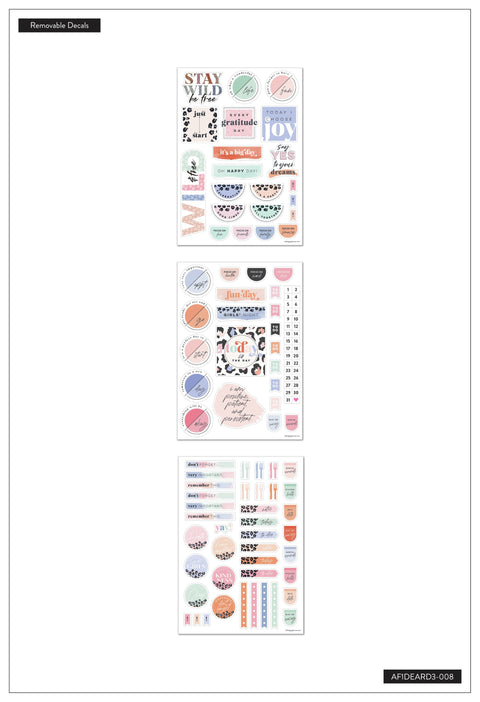 Colorful Leopard Dry Erase Removable Decals