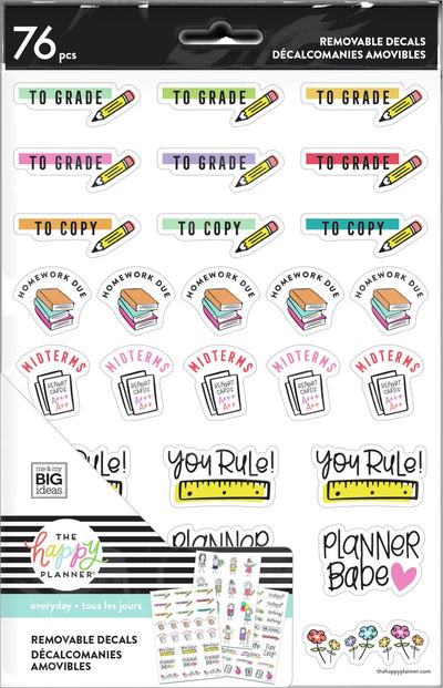 Stick Girl Dry Erase Removable Decals